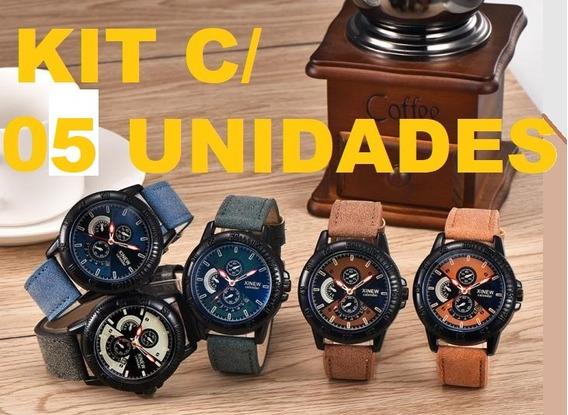 Kit C/ 05 Unidades Relógio De Pulso Xinew Modelo 4031