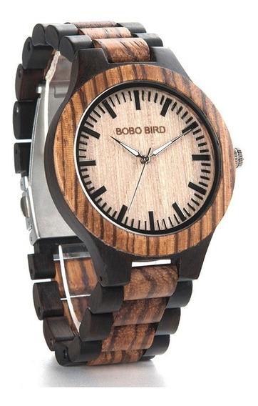 Relógio Masculino Bobo Bird N302 Madeira Analógico