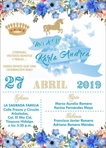 Invitaciones Xv Años Unicornio En Mercado Libre México