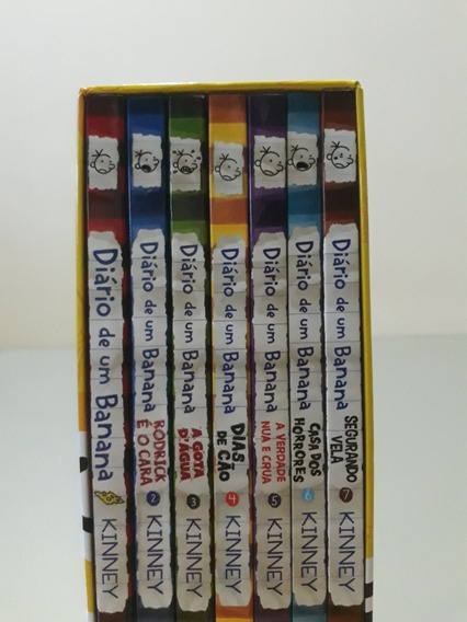 Box Diário De Um Banana - 7 Volumes (livros)