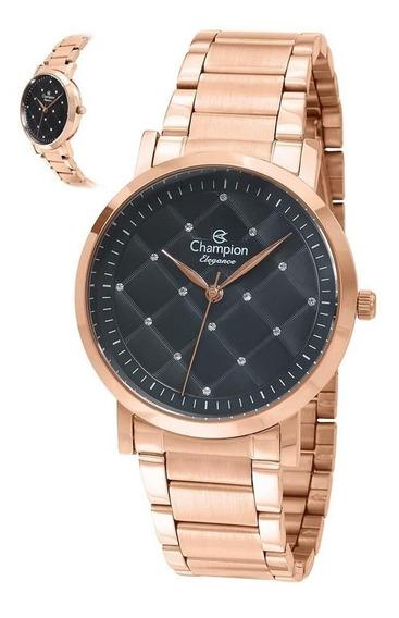 Relógio Champion Feminino Ref: Cn25976p Rosé !