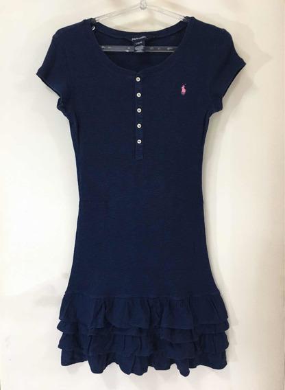 Vestido Ralph Lauren Azul Tam.12 - Original
