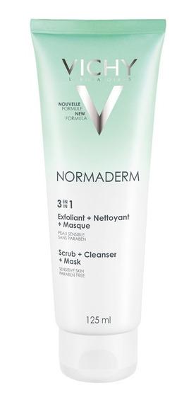 Normaderm 3 Em 1 Vichy - Limpeza Facial 125ml
