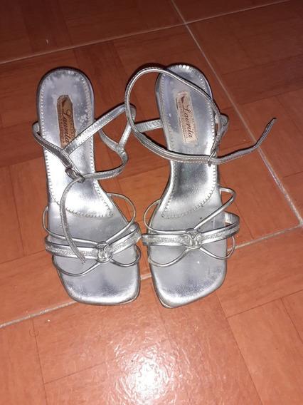 Zapatos Para Dama Sandalias Plateadas