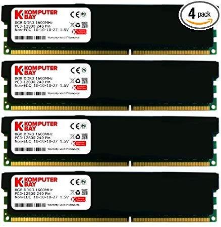Komputerbay 32 Gb (4 X 8 Gb) Ddr3 Pc3 12800 1600 Mhz Dimm