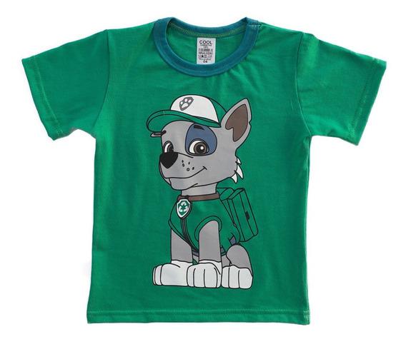 Camisetas Infantil Patrulha Canina Kit 04 Meninos