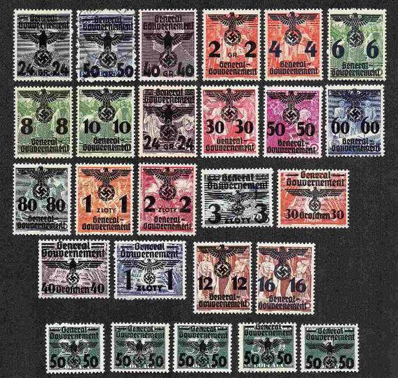 Grc105 - Selos Alemanha Mi#14/39 Governo Geral Novos Vc 1300