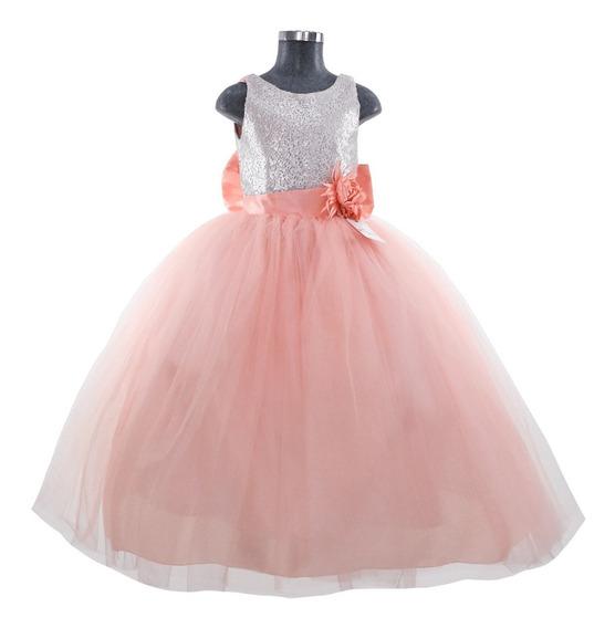 Hermoso Elegante Vestido De Fiesta Para Niña