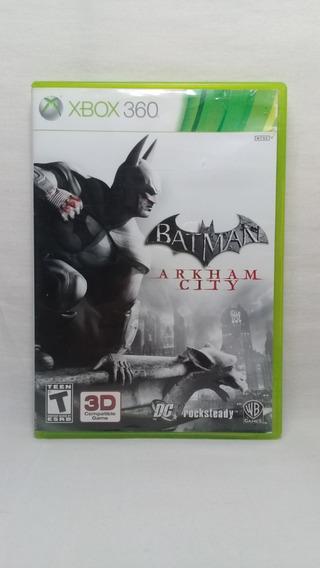 Batman Arkham City Xbox 360 Original Completo Usado