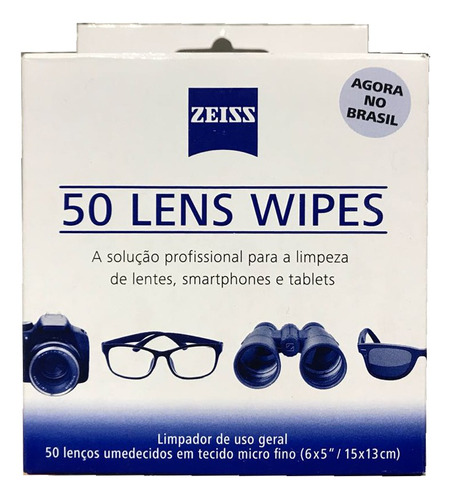 Kit Lens Wipes Zeiss Com 300 Lenços Umidecidos