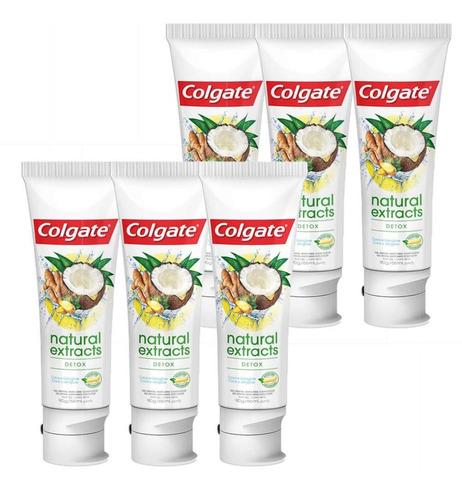 Kit Creme Dental Colgate Natural Extracts Detox 90g Com 6 Un