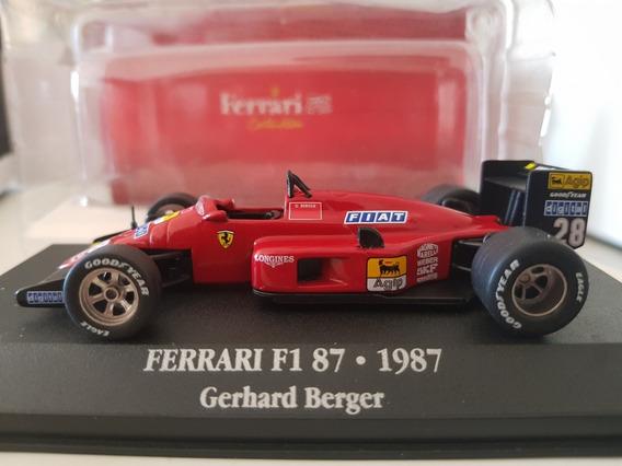 F1 - Gerhard Berger - Ferrari - F1/87 - 1987 - 1:43 Coleção