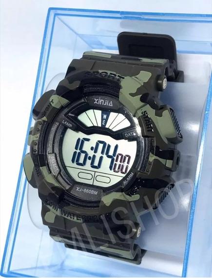 Relógio Masculino Original Xinjia Aprova D Água Antishok+cx