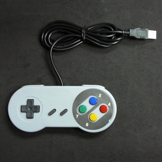 Novo Super Nintendo Famicom Sf Snes Controlador Pc Usb Windo