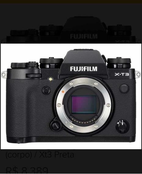 Câmera Fujifilm Xt3 Mirroles (corpo) Com Todos Acessórios