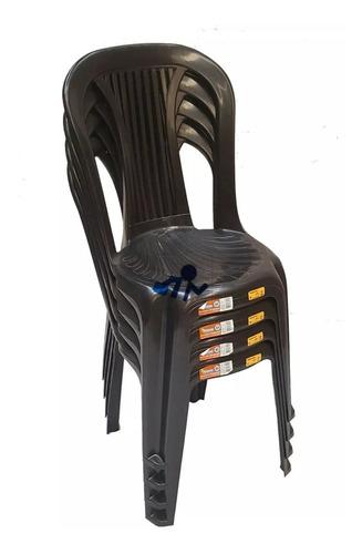 Cadeira De Plastico Bistro Empilhavel Antares Novo Kit 40 Un