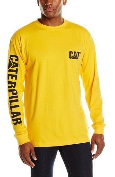 Playeras Amarillas Caterpillar Cat Original L Envio Gratis
