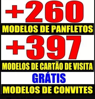 Planfleto+cartão De Visita Modelos Editável Corel Drew