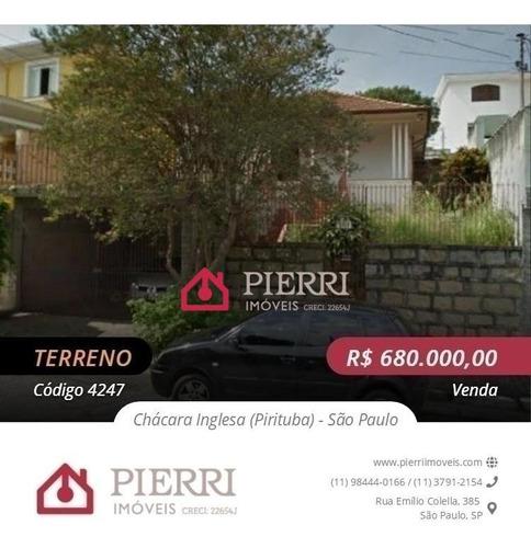Terreno Venda Pirituba / Chácara Inglesa - 12, 45 De Frente - 4247