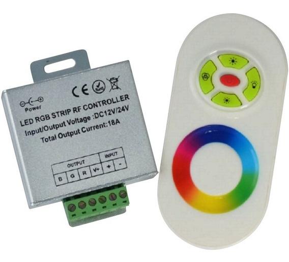 Controlador Led Rgb Rf Radio Frecuencia 3x6 Control 6b Touch