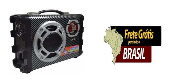 Micro System Caixa Som Amplicada Rca Mp3 Usb Karaoke Sd Hif