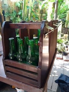 Porta Cervezas De Madera Con Destapador