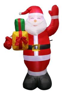 Santa Claus Inflable Navideño Luz Muñeco Inflable Navideño