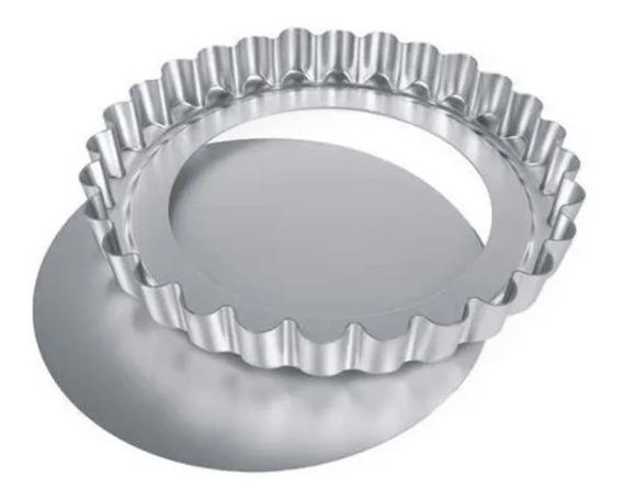 Tartera Rizada Aluminio Nº26 Desmontable Pastafrola Tarta
