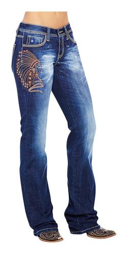 Pantalones Acampanados De Mezclilla Bordados Para Mujer Mercado Libre