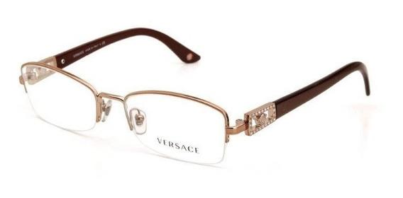 Óculos De Grau Metal Versace Unissex Dourado