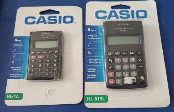 Kit Calculadora Bolso Casio Hl-815l E Hl-4a 8 Digitos Orig.