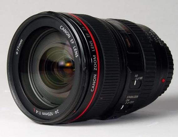 Lente Canon Ef 24-105mm F/4 Série L Is Usm Semi Nova