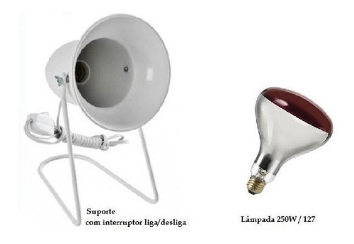 Aparelho Infra Vermelho + Lampada 250w 127v Ilumatel