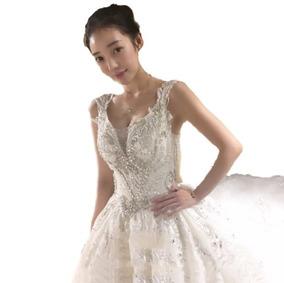 Vestido De Novia 2018 C/cola Todo Talle (directo China)#7465