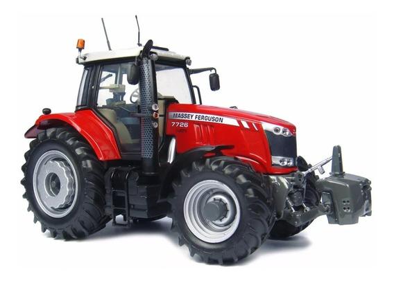 Miniatura Trator Agrícola Massey Ferguson 7726 Escala 1/32