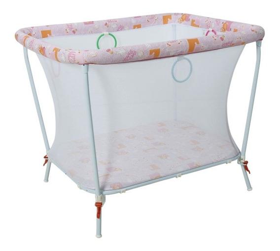 Cercado Estofado Para Bebê Em Aço Carbono Little Baby Rosa