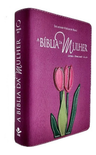Bíblia Da Mulher Tamanho Médio Capa Legno Orquídea