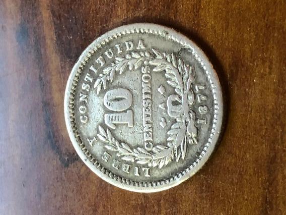 Robmar-uruguay.10 Cent De 1877plata 900-2,5g.-clasificada-15