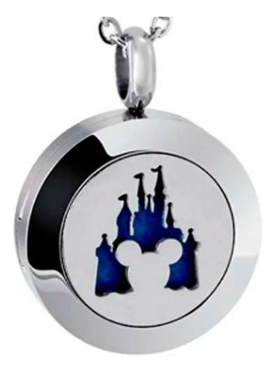Colar Difusor De Aromas Pessoal Mickey Castelo + 5 Feltros