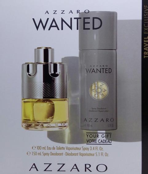 Kit Perfume Azzaro Wanted Edt C/02 Itens Lacrado