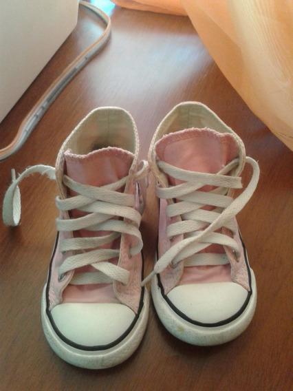 Zapatos Converse All Star Rosadas Talla 23 Niña
