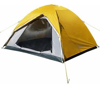 Carpa Waterdog Dome Iii Camping Para 4 Personas Con Abside