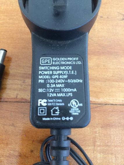 Fonte Carregador Gpe 12 Volts X 1 A Modelo Gpe-828f
