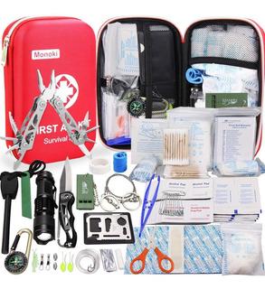 Monoki Kit Primeros Auxilio Kit De Supervivencia, 241 Piezas