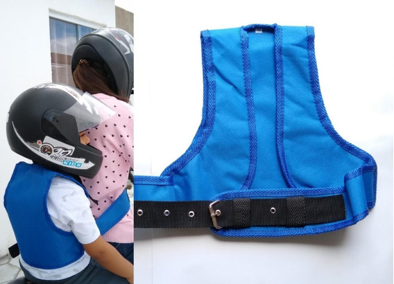 Colete Cinto Segurança Infantil Para Moto