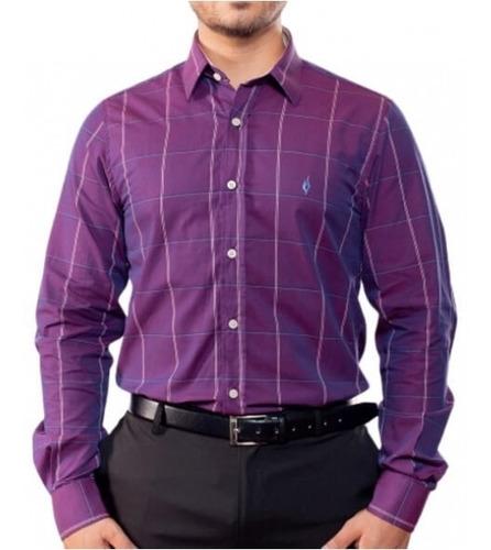 Camisa Quadriculada - Scacchi Bordeaux