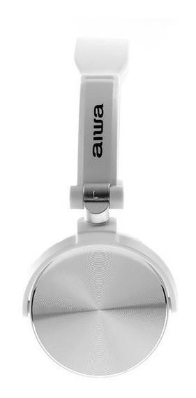Headphone Aiwa X107w Com Microfone - Branco