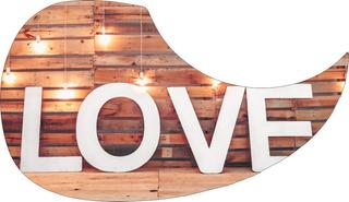 Escudo Palheteira Resinada Violão Living Love
