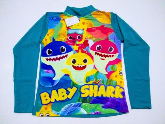Blusa Camisa Proteção Uv50 Infantil Lucas Neto Baby Shark 6