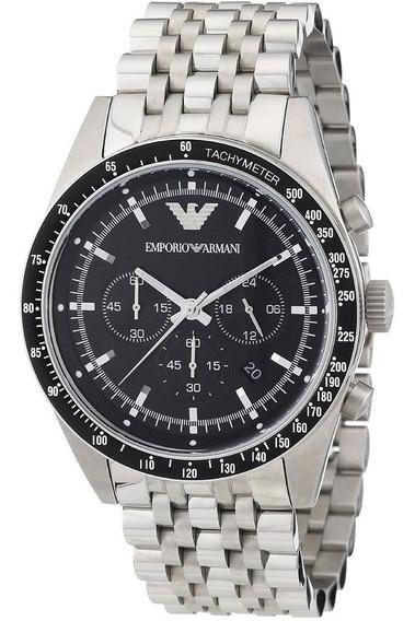 Relógio Emporio Armani Ar5988 Sportivo Black Dial Stainless